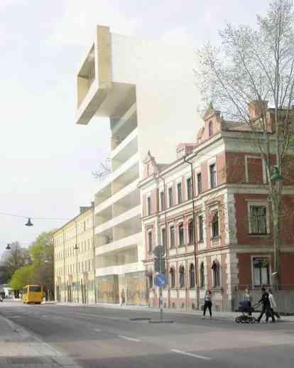 瑞典乌普萨拉一栋公寓楼的平行分配